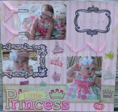 scrapbook layouts for new baby girl   Baby girl scrapbook page   My scrapbook pages that I've put together