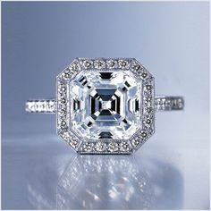 Asscher Cut Diamond Ring.  My Favorite!!