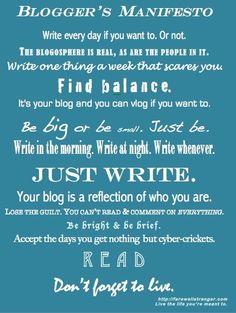 The Blogger's Manifesto