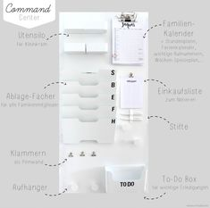 {DIY} Mehr Durchblick und Ordnung mit dem Familien Command-Center {DIY} More clarity and order with the Family Command Center – Emma Bee Diy Organisation, School Organization, Universidad Ideas, Family Command Center, Command Centers, Ideas Hogar, Diy Décoration, Easy Diy, Trendy Home
