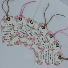 Gorgeous vintage wedding favour tags