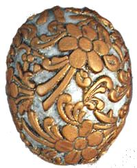 Decorating Eggs with Polymer Clay Filigree | Sarajane's Polyclay Gallery - so pretty and looks doable.