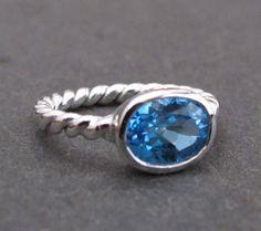 Oval London Blue Topaz Ring Blue Topaz in Sterling by Belesas, $99.00
