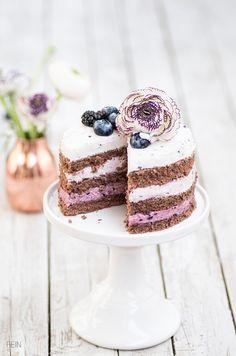 Bromeer-Blaubeer-Torte Schokoladenbisquittorte Heidelbeer Brombeer Torte