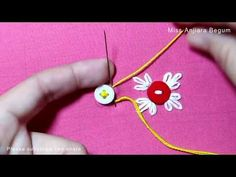 Hand embroidery button tricks, Hand Embroidery techniques with button, Different classes embroidery - Hand Embroidery Patterns Flowers, Basic Embroidery Stitches, Creative Embroidery, Learn Embroidery, Hand Embroidery Designs, Embroidery Techniques, Crochet Patterns, Japanese Embroidery, Little Brother Quotes