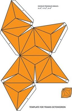 Xplore & Xpress: Fun with Mathematics : Archimedean duals .The Catalan Solids ( Part Instruções Origami, Origami And Kirigami, Paper Crafts Origami, 3d Paper, Paper Toys, Oragami, Geometric Origami, Origami Geometric Shapes, Geometry Art