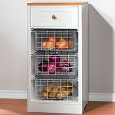 3 basket storage cabinet