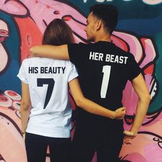 Any number on your choice! His BEAUTY Her BEAST Mathching shirts Tshirts for couple T-shirts Beauty and the Beast Tees Beauty 01 Beast 01 - Parchen Fotos Cute Couple Shirts, Disney Couple Shirts, Couple Tees, Matching Couple Outfits, Disney Couples, Matching Couples, Couple Clothes, Couple Stuff, Shirts For Couples