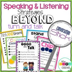 "Are you tired of using the same speaking and listening strategy over and over again? We love the tried and true strategy ""Turn and Talk"" but are ready to add a few more discussion strategies to our teaching tool belts. Active Listening, Listening Skills, Listening Activities, Teaching Strategies, Teaching Tools, Siop Strategies, Teaching Ideas, Creative Teaching, Teacher Resources"