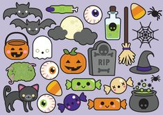 Premium Vector Clipart Halloween Clipart by LookLookPrettyPaper