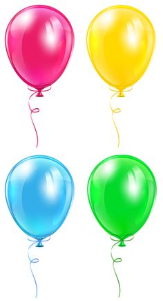 Balloons Set Transparent PNG Image