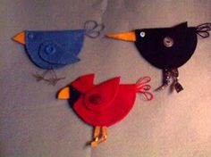 Free Felt Craft Patterns | ... Crafting Haven: Adorable Bird Ornament Pattern and Instructions