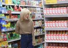 """Wendy shopping at Vinmart 😘💙 Cre: On pics"""" Seulgi, Wendy Rv, Wendy Red Velvet, Velvet Fashion, Irene, Idol, Velvet Style, Slime, Lesbian"""