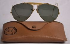 6656eaf420 VINTAGE EARLY B L RAY BAN OUTDOORSMAN AVIATOR SUNGLASSES - 58mm  BauschLomb   Aviator