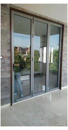 House Window Design, Modern House Design, Modern Window Design, Window Glass Design, Exterior Sliding Glass Doors, Bifold Glass Doors, French Sliding Patio Doors, Exterior French Doors, Double Sliding Glass Doors
