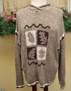 Christopher Banks Fall Leaves Sweater L Multi Cute Soft Comfy Party Jeans #ChristopherBanks #Crewneck