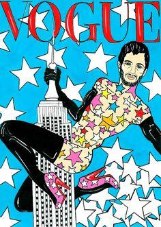 Para iniciar a semana de moda de NYC com muito humor, o ilustrador Alexsandro Palombo criou duas ilustrações com figurinhas bem representativas no circuito de moda da cidade abraçando o Empire State Building: Anna Wintour, editora-chefe da vogue USA e o estilista Marc Jacobs!