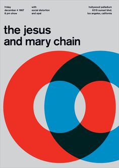 The Jesus and Mary Chain poster in (just enough) red.