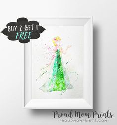 Disney Princess Art Elsa Frozen Fever Art Print Poster Wall