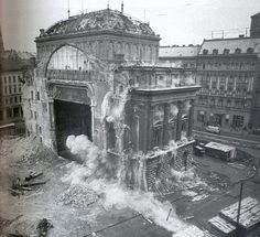 Demolishing the old National Theatre of Budapest, 1964 Old Pictures, Old Photos, Anno Domini, National Theatre, Most Beautiful Cities, Budapest Hungary, Historical Pictures, Old City, Prague