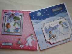 The Snowman and Snowdog cards, using Crafters Companion