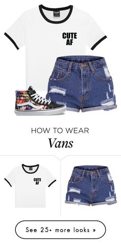 """Untitled #1847"" by cassidy-krystine on Polyvore featuring Vans"