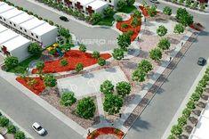 3d Renders de Parques / Landscapes - EMARQ.net Concept Models Architecture, Landscape Architecture Design, Parking Design, Urban Planning, Urban Landscape, Designs To Draw, Playground, Living Spaces, Exterior