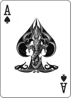 Ace of Spades Playing Card Tattoos, Playing Cards Art, Custom Playing Cards, Best Casino Games, Ace Card, Play Your Cards Right, Joker Card, Ace Of Hearts, Digital Portrait