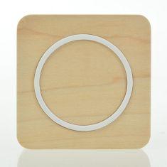 Adaptateur chargeur bois qi sans fil pad de chargement carré pour téléphone mobile