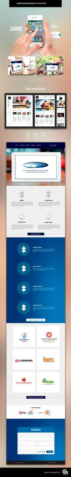 Maquetación pagina web - EJE P.E Ltda