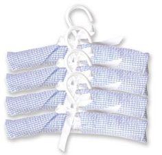 Trend Lab Blue Gingham Seersucker Padded Hangers