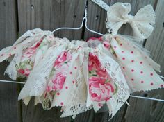Vintage shabby tutu fabric tutu scrap fabric by LittleBirdBands