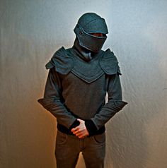Chadwick John DIllon made this awesome Grey Knight Armored Hoodie, a hoodie that looks like a suit of armor. He will soon make them available to purchase at his Etsy shop, SOF works. Each hoodie is made to order.