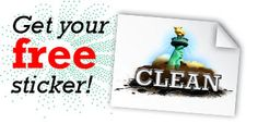 Free Sticker from Clean.org