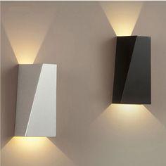 6W(2*3W) Warm White / White COB LED Wall Sconces Bedside Bedroom Corridor  Light Fixture Hardwired Energy Saving Night Light