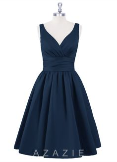 Shop Azazie Bridesmaid Dress - Alexandra in Satin. Find the perfect made-to-order bridesmaid dresses for your bridal party in your favorite color, style and fabric at Azazie.