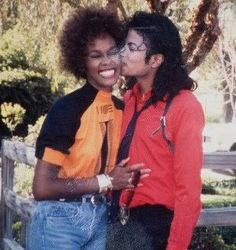 The King and Queen of Pop together at last. R.I.P.