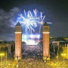 New Year's celebration in Barcelona 2013-2014