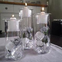 Our Gorgeous #ClearlyCreative line allows you to fill them to your taste. I just LOVE how these are arranged #Partylite  clearly creative symmetry trio www.partylite.biz/BrandiJo