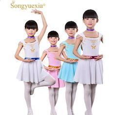 60c911aab La bailarina más nueva de las muchachas arropa el vestido blanco del ballet  para los niños