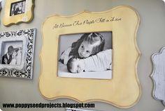 11x14 Eleanor Frame with vinyl.   #shaped frames #DIY frames #frame galleries #poppy seed frames