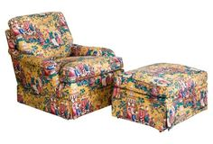 Kittinger Chinoiserie Chair &  Ottoman