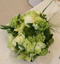 This first image of the green wedding bouquet was taken by Jonny Draper Splendid Green Wedding Bouquet of Green Orchids, Jade Green . Bridesmaid Bouquet, Wedding Bouquets, Wedding Flowers, Viburnum Opulus, Green Orchid, Flower Meanings, Parrot Tulips, Cymbidium Orchids, Wedding Flower Decorations