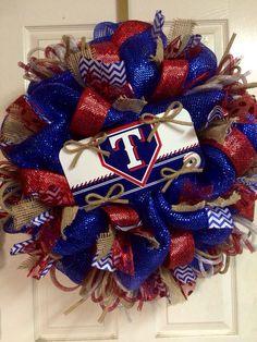 Texas Ranger Wreath by HighMaintenanceDes on Etsy