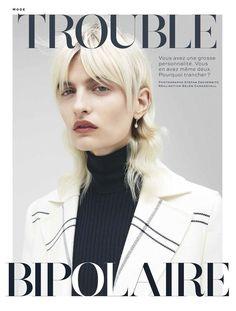 Veronika Vilim Pose on Stylist Magazine France October 2015