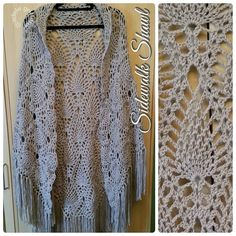 Sidewalk Shawl from a free pattern from Red Heart Yarn. This one is made with…