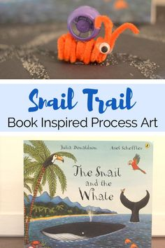 I just love The Snail and the Whale by Julia Donaldson. It's such a sweet story about adventure and how even the smallest creature can accomplish big things. It's one one of our favorite books! So for an activity to go along with this book, we decided to make our own snail trails, just like the...