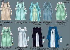 Evolution of Eliza Hamilton Eliza, Alexander Hamilton, Eliza Hamilton Costume, Hamilton Broadway, Hamilton Musical, Jurassic World, Hamilton Outfits, Pippa Soo, Hamilton Drawings