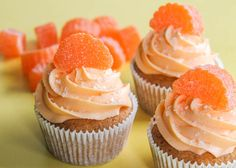 Orange Slice Cupcakes  This link takes you right to the recipe and not some site you have to pay to view the recipes.