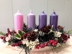 Diy Felt Christmas Tree, Purple Christmas, Christmas Candles, Christmas Time, Christmas Crafts, Christmas Ornaments, Reindeer Christmas, Nordic Christmas, Modern Christmas